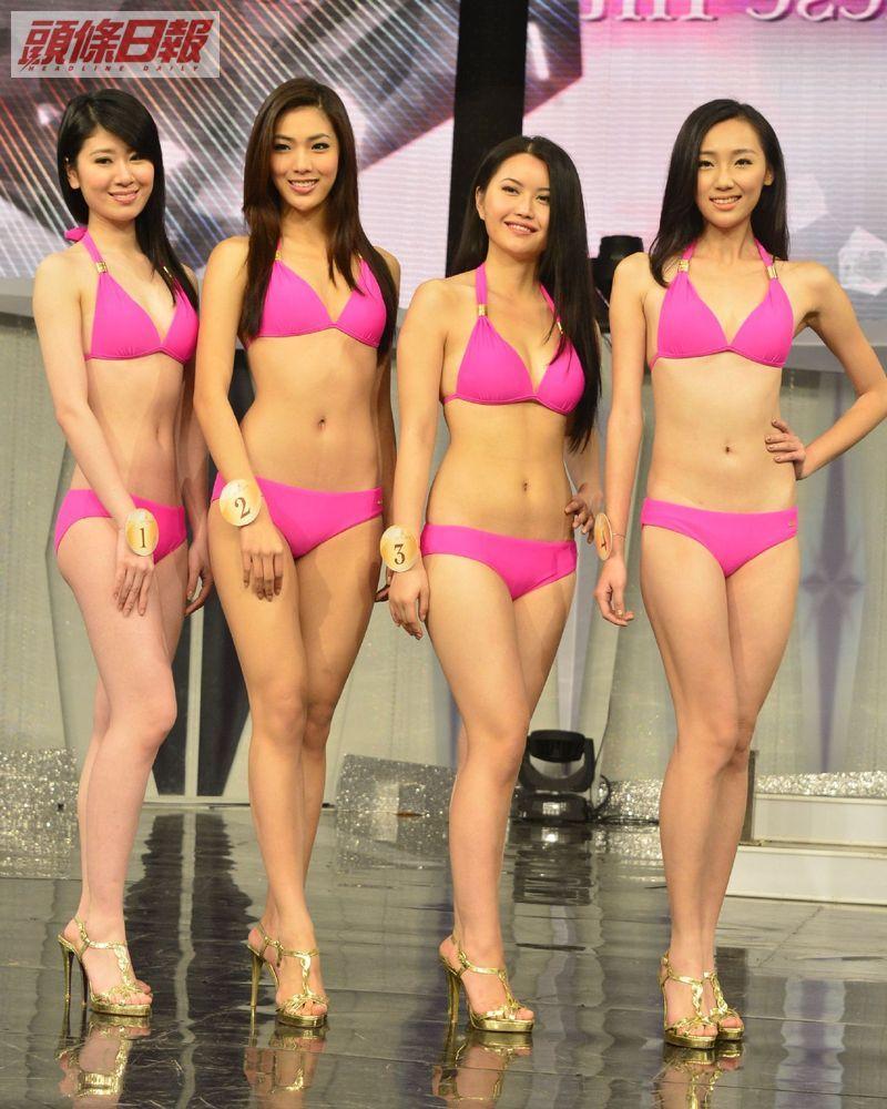 歐陽可心、王思翊、湛雨、邱芳思「2013國際中華小姐競選」泳裝