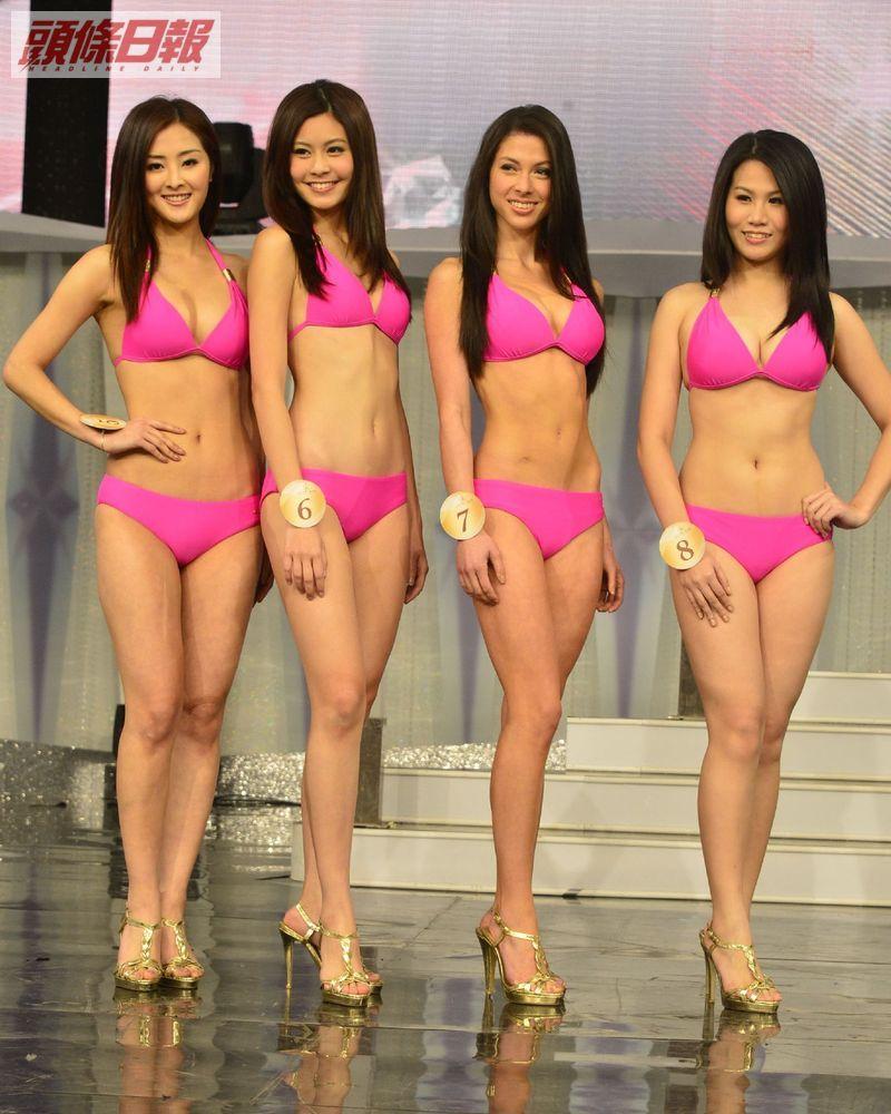 張名雅、陳楚寰、周慧倫、李真真「2013國際中華小姐競選」泳裝