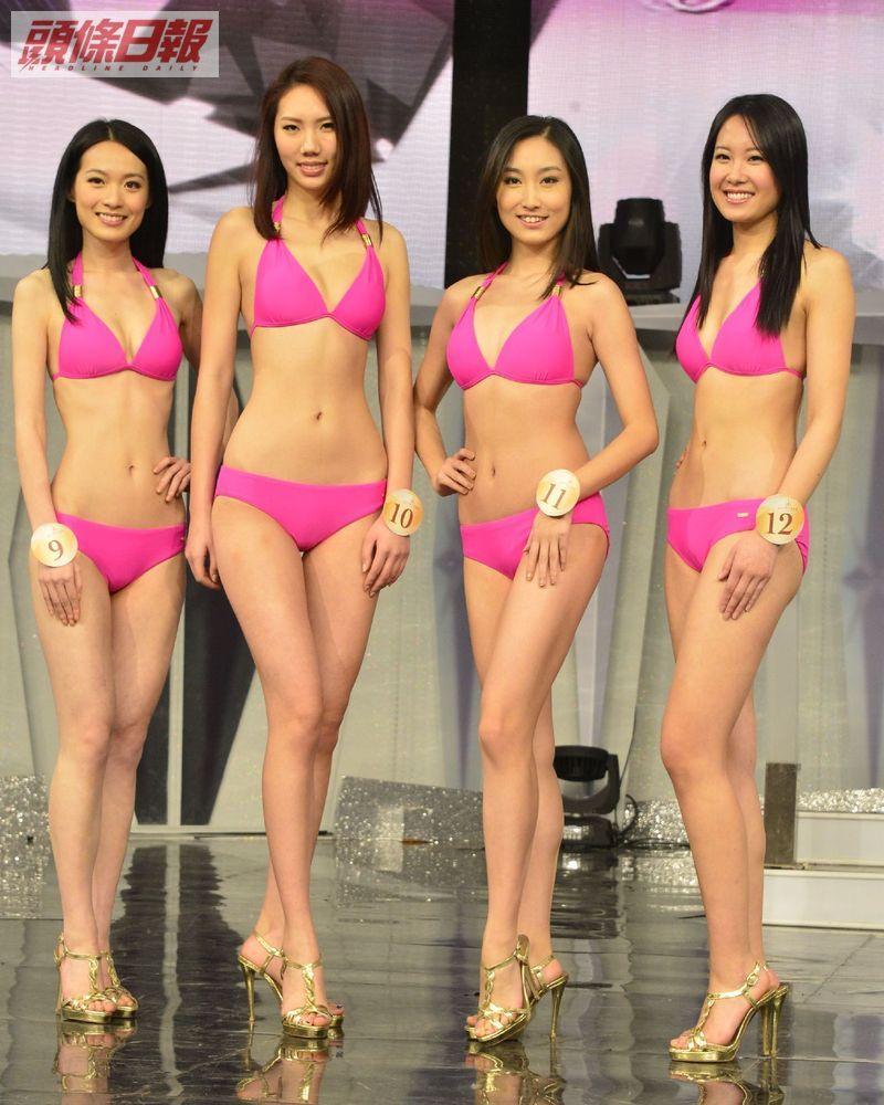 蔡潔、楊柳青青、李思禹、陳冠曄「2013國際中華小姐競選」泳裝