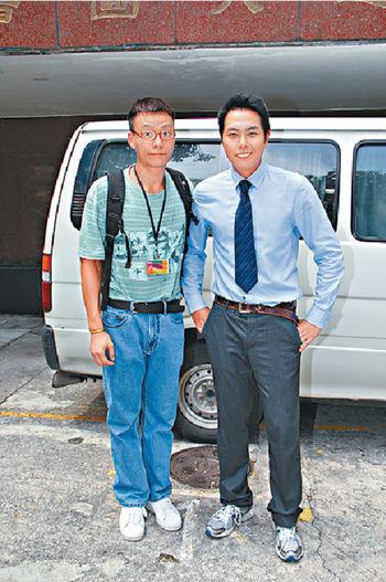 《仁心解碼II》拍攝完畢後,記者要求三人合照,僅陳志健與蕭正楠照辦。